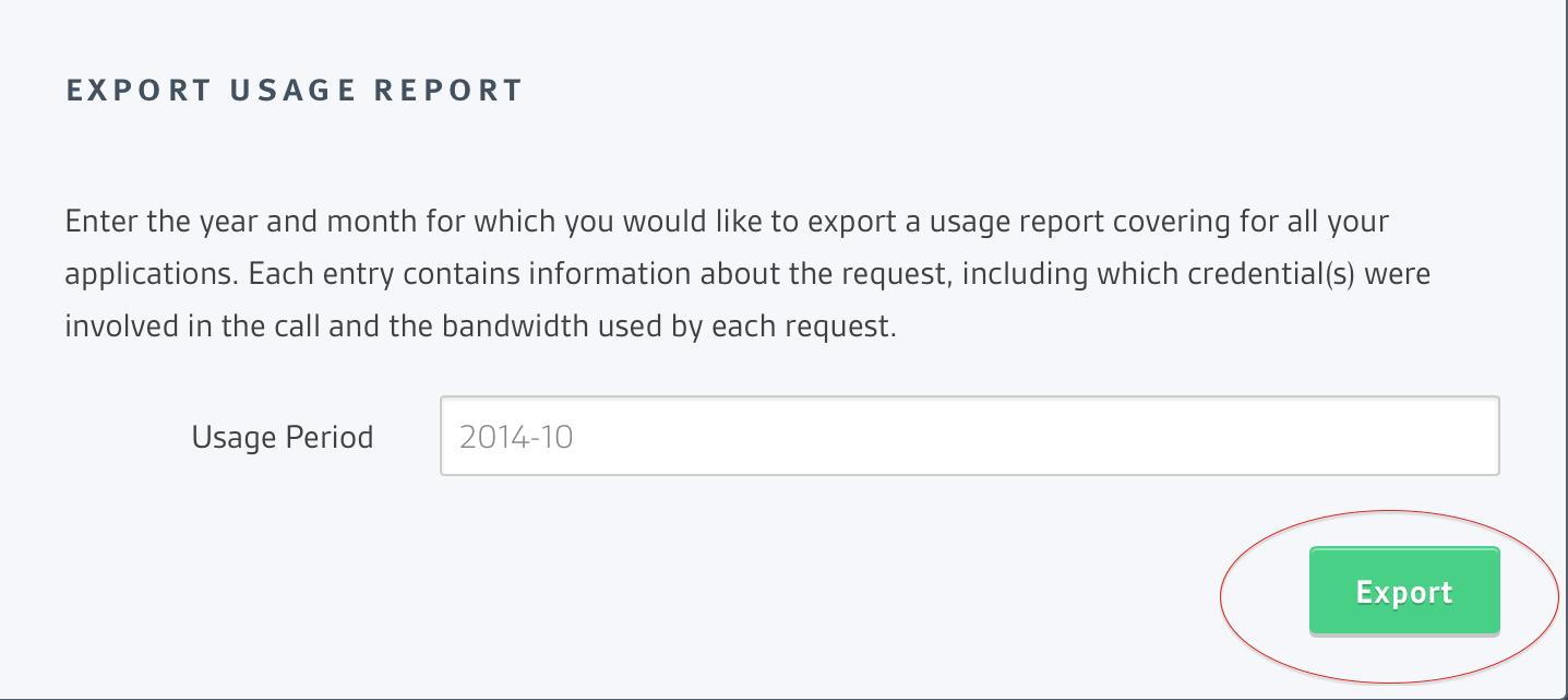 Usage Reports Screenshot