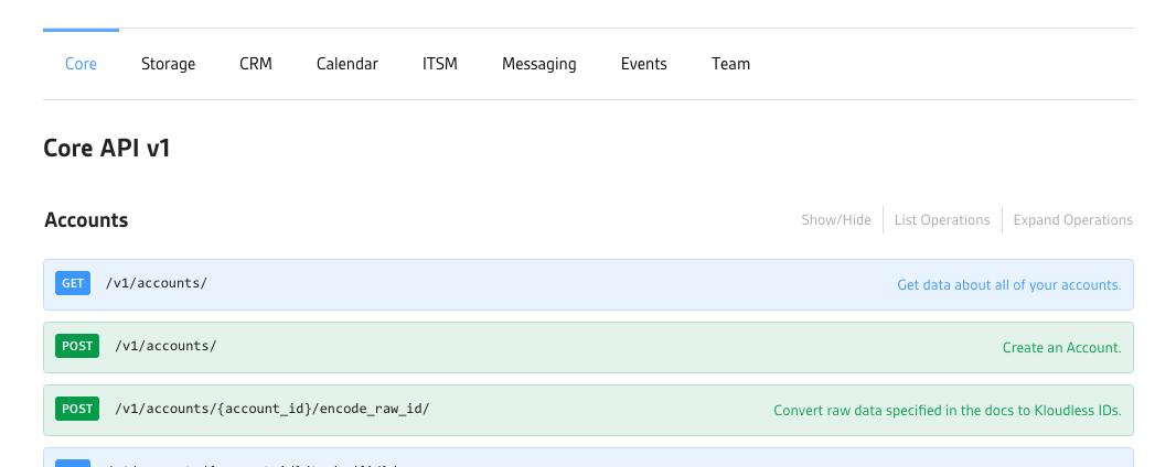 API Explorer Tabs